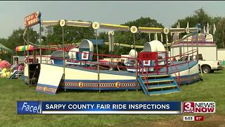 Sarpy County Fair ride inspections - Video