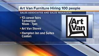 Art Van Furniture is hiring 100 people during 13 career fairs Sept. 28, 2017 - Video