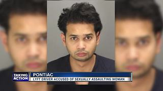 Lyft driver accused of sexually assaulting woman in Pontiac