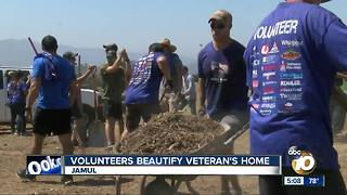 Volunteers beautify local veteran's home - Video