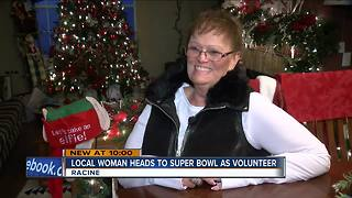 Racine woman chosen to volunteer at the Super Bowl - Video