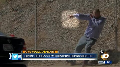 Expert: SDPD officers showed restraint during shootout