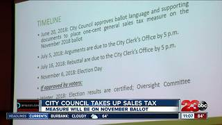 Bakersfield City Council votes to add one cent sales tax to November ballot - Video