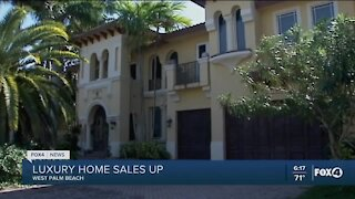 Luxury home sales up