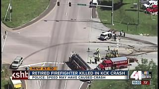 Retired firefighter killed in four-car wreck at Parallel Parkway, K-7 Highway in KCK - Video