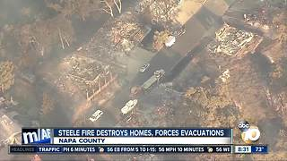 Steele fire destroys homes, forces evacuations - Video