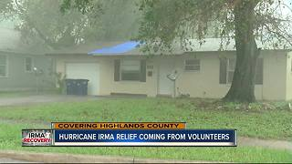 Hurricane Irma relief coming from volunteers