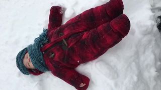 Baby's First Snow Experience Is Beyond Precious - Video