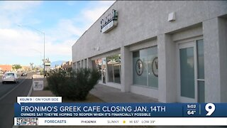 Fronimo's Greek Cafe on Speedway closing Jan. 14