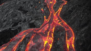 Drone Footage Captures Lava Rivers Streaming From Kilauea Volcano - Video