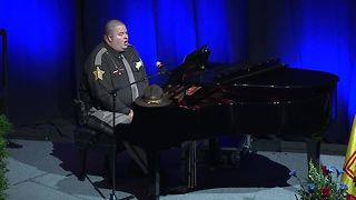 Marion County Lt. Bryan Wolfe performs