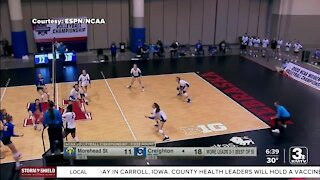 NCAA volleyball tournament taking place at CHI Health Center