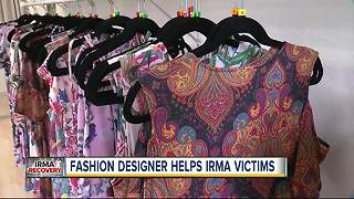 Fashion designer helps Hurricane Irma victims by donating portion of sales to Tampa Bay charities - Video