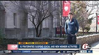 Indiana University suspends all fraternity social activities until spring - Video