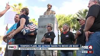 Standoff over statue