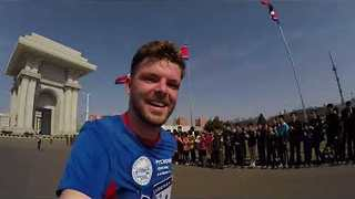 Irishman Films Himself Doing 10km Road Race in Pyongyang - Video