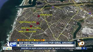 Police search for possible serial arsonist after Ocean Beach fires - Video