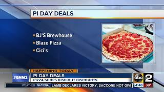 Restaurants celebrating Pi Day with deals