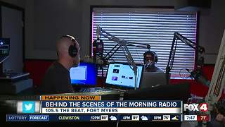 Behind the scenes of radio broadcasts at 105.5 The Beat - 7:30am - Video