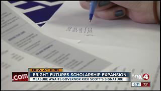 Gov. Scott reviews Bright Futures expansion bill - Video