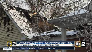 Catholic church helps displaced residents after fire destroys their building