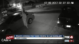 Trio steals car in Cape Coral neighborhood - Video
