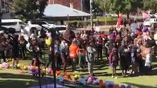 Crowds Gather in Support of Aboriginal Victims of Domestic Violence - Video