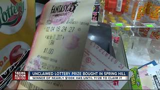 Fantasy 5 Florida lottery ticket worth $100K has not been claimed, time is running out - Video