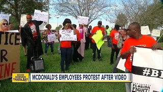 McDonald's employees protest after viral video
