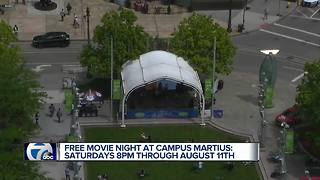 Free summer movies at Campus Martius - Video
