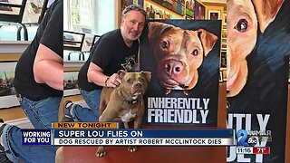 Famous Baltimore painter loses rescue dog who he says saved him