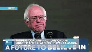 Sanders Condemns Actions Of GOP Shooter After Learning He Was Campaign Volunteer - Video