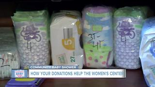 Baby shower donations help the Women's Center