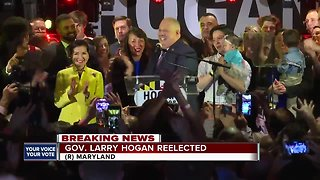 Gov. Larry Hogan addresses crowd following re-election