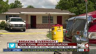 Cape Coral arson investigation - Video