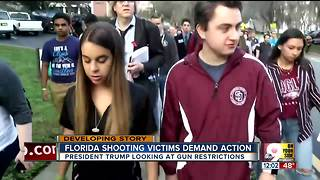 Florida shooting victims demand action - Video