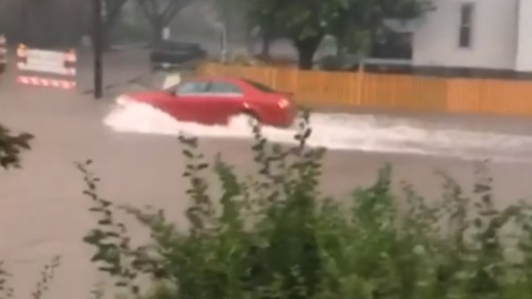 Torrential Rain Causes Flooding in Rockford