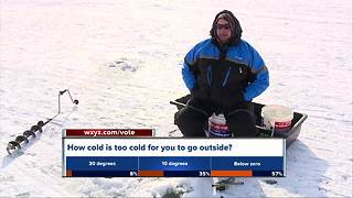 Cold snap kicks off metro Detroit ice fishing season early