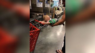 Sweet Baby Shows Off His Strength - Video