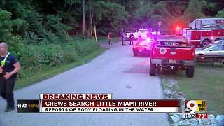 Crews search Little Miami River after boy's disappearance