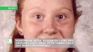 Heartbreak After 15-Year-Old Girl Dies. Obituary Goes Viral After Family Calls out Who's Responsible - Video