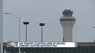 Air traffic controllers at Detroit Metro Airport hit hard by government shutdown