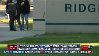 Teen arrested for recording boys using bathroom and changing at high school