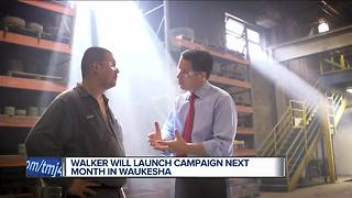 Governor Scott Walker to run for re-election - Video