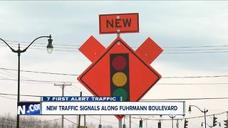 New traffic signals along Fuhrmann Boulevard - Video