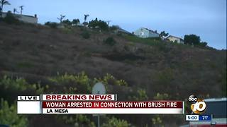 Woman detained after fire breaks out in La Mesa - Video