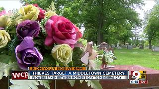 Thieves target Middletown cemetery - Video