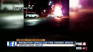 Fire damages 2 probation cars overnight - Video
