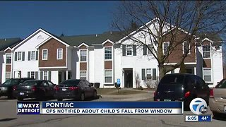 Toddler injured after falling out of window