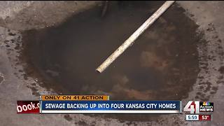 Volker residents deal with raw sewage in their homes - Video